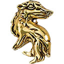 24k Gold Plated Sterling Silver Harry Potter Hufflepuff Pin